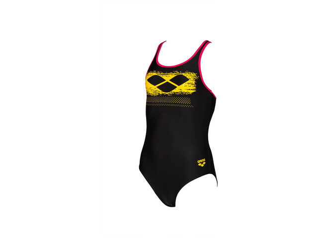 arena Scratchy One Piece Swimsuit Girls black/freak rose